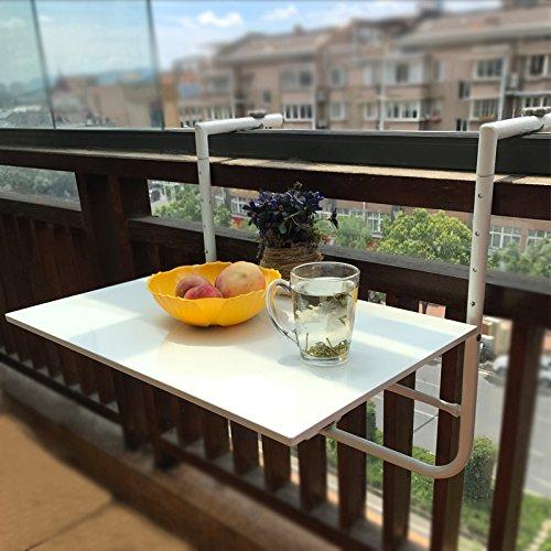 Balkonhängetisch Klappbar,Outdoor-Tisch Balkontisch zum Einhängen aus metall,Klappbarer Wand-Klapptisch