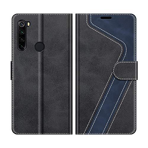 MOBESV Funda para Xiaomi Redmi Note 8, Funda Libro Xiaomi Redmi Note 8, Funda Móvil Xiaomi Redmi Note 8 Magnético Carcasa para Xiaomi Redmi Note 8 Funda con Tapa, Elegante Negro