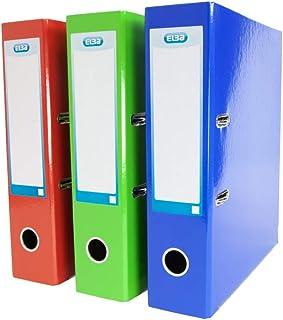 Elba, A4 Lever Arch Files, Assorted, 3 Folders