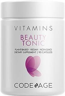 Codeage Beauty Boost Biotin Capsule Supplement - 1500mcg of Biotin per Serving, Astaxanthin, Vegan Collagen Food Blend - H...