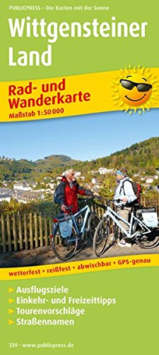 Wittgensteiner Land: Rad- und Wanderkarte mit Ausflugszielen, Einkehr- & Freizeittipps, wetterfest, reissfest, abwischbar, GPS-genau. 1:50000 (Rad- und Wanderkarte / RuWK)