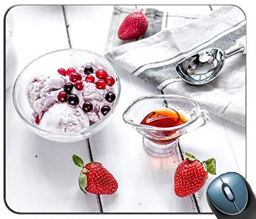 Eis Erdbeer Honig Dessert personalisierte Rechteck Maus Pad Maus Matte