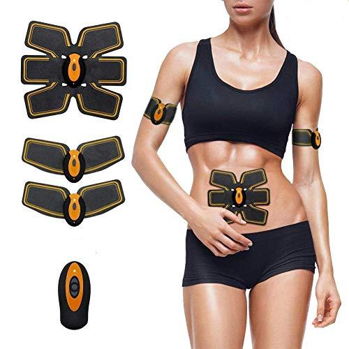ZXL 2018 Nuevo Entrenador de músculos Abdominales Entrenador de Abdominales Estimulador Muscular Cinturón de tonificación AB Entrenador de Cintura Cinturón de Apoyo del Vientre Cinturón de Entre