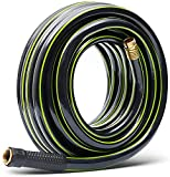 Worth Garden Short Garden Hose 3/4 in. x 25 ft. NO KINK,No leak,HEAVY DUTY Durable PVC Water Hose with Brass Hose Fittings,Male to Female Fittings,Fit for Extremely Weather,12 YEARS WARRANTY,H165B02