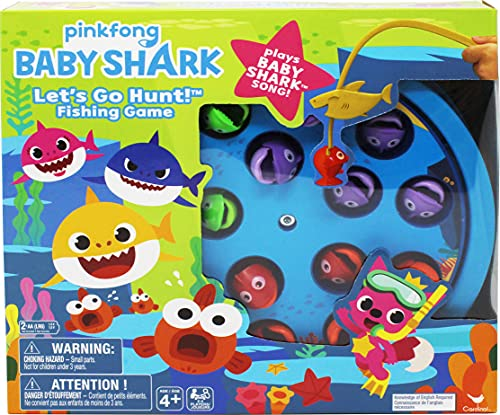 Spin Master Games Pinkfong Baby Shark Let's Go Hunt Musical Fishing Game,...