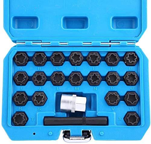 JOMAFA - Juego de vasos para tornillos antirrobo compatible con AUDI, 22 piezas