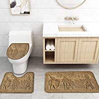 ZGDPBYF 浴室レトロ用アップホームバスマットスタチュープリントバスマットシャワーフロア用カーペットバスタブマット