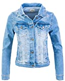 Rock Creek Veste en Jean Veste transitionnelle Denim Blouson Stretch Short Veste en Denim Classique Urban Stonewash D-401 Bleu Ciel XXL