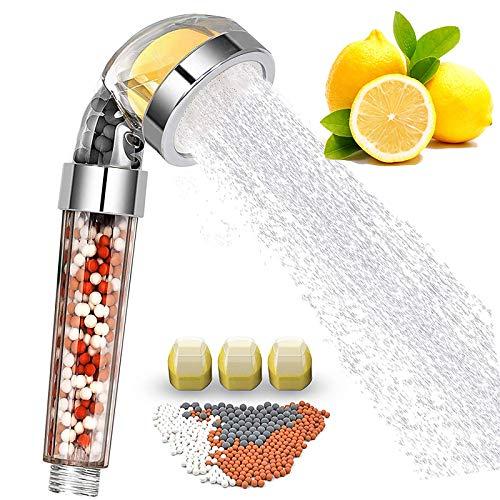 LKHF Cabezal de Ducha con Filtro de Aroma de Vitamina C y limón Cabezal de aromaterapia Cabezal de Ducha de aniones de Piedra médica Boquilla de Ducha de Alta presión Que Ahorra Agua