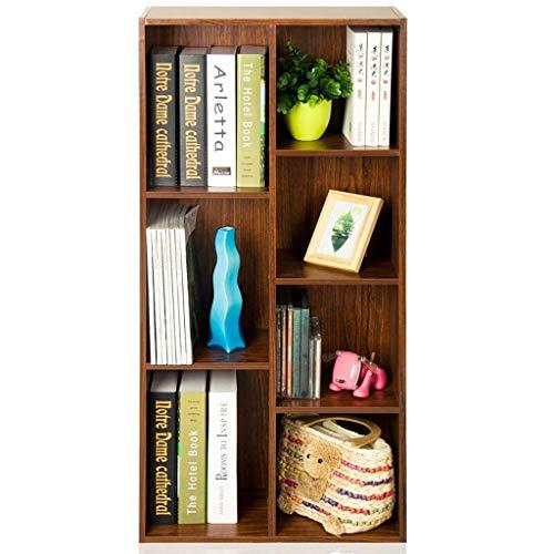 HONGFEISHANGMAO Estantería para Libros Siete Veces estantería estantería Estantería de Madera, Multiuso de Almacenamiento Vitrina Librerías Estante Organizador de Libros (Color : C)