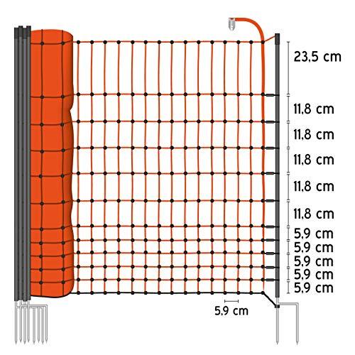 VOSS.farming 50 m Premium Hühnerzaun, Geflügelzaun/-Netz, 112 cm, 20 Pfähle, 2 Spitzen Classic - 2
