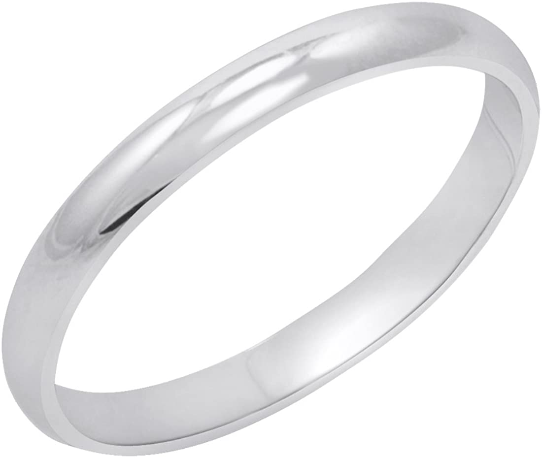 Direct sale of manufacturer Max 70% OFF Women's 14K Yellow or White Gold B Traditional 2mm Wedding Plain