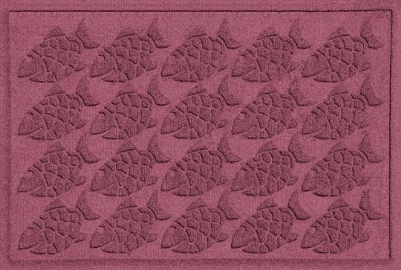 Bungalow Flooring 706600023 Water Guard Tropical Fish Mat in Bordeaux - 2 ft. x 3 ft.