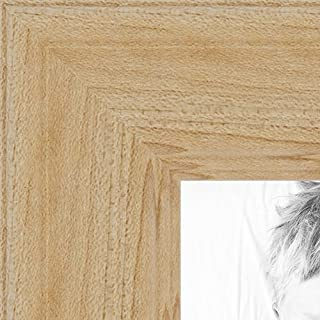 ArtToFrames 20x28 inch Clear Finish on Hard Maple Wood Picture Frame, WOM0066-60823-YCLR-20x28