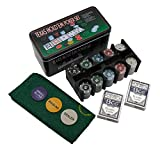 Store2508® Poker Chip Set in Tin Case, 200 Denominated Chips, Multicolour