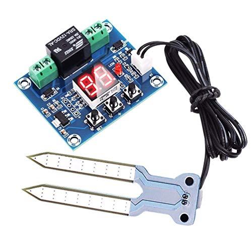 DollaTek Controlador de Humedad del Sensor de Humedad del Suelo 12V con módulo de Sistema de riego automático con Pantalla Digital