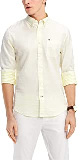 Tommy Hilfiger Mens Striped Classic Fit Button-Down Shirt