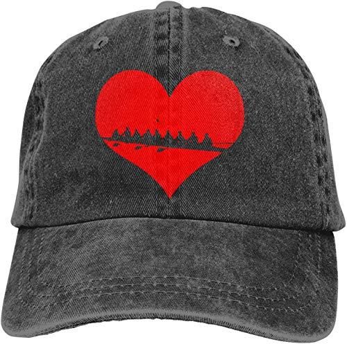 Vintage Baseball Cap, Unisex Rowing Heart Rower Adjustable Baseball Hats Twill Plain