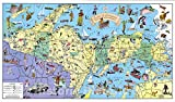 Historic Map - Land of Hiawatha, Michigan's Upper Peninsula 1935 - Vintage Wall Art - 43in x 24in