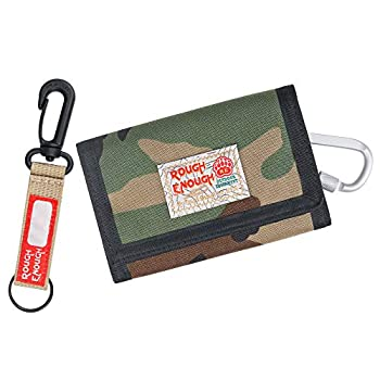 Rough Enough Kids Wallets for Boys Military Camo Trifold Wallet with Coin Pocket Keychain Teen