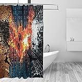 Why So Serious Joker Batman Duschvorhang Badezimmer Badvorhänge wasserabweisend schnell trocknend Polyester Stoff Badewannenvorhang mit 12 Haken 167,6 x 182,9 cm