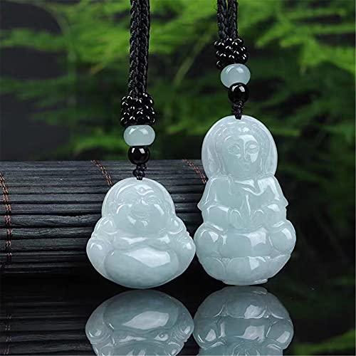 WCOCOW Feng Shui Jade Collar Jadeite riendo Buddha Guan Yin