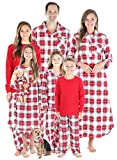 SleepytimePJs Matching Family Christmas Pajama Sets, Red & White Plaid Flannel - Infant, 18M