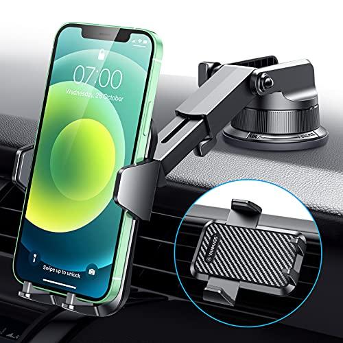 VANmass, soporte universal para teléfono para coche, soporte de ventilación para coche, compatible con iPhone 12 11 Pro SE Xs Max XR X, Galaxy s20 Note 10 9 Plus