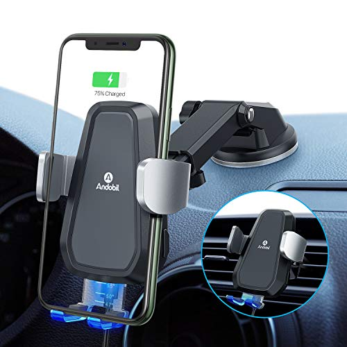 Qi Car Charger 10W//7.5W Auto-Clamping Car Phone Holder Charger for Air Vent /& Dashboard Galaxy Note10//S10//S9//S20 Andobil Car Phone Mount Wireless Charger Compatible with iPhone 11 Series//SE//X//XR//8