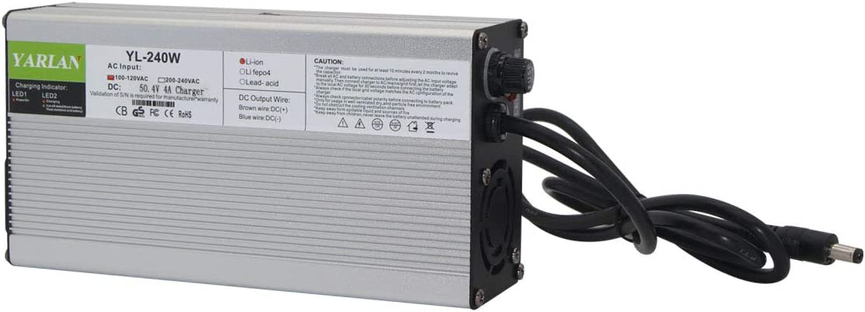 50.4V 4A Charger 12S 44.4V Smart Seasonal Wrap Introduction Li-ion OFFicial mail order L Battery E-Bike
