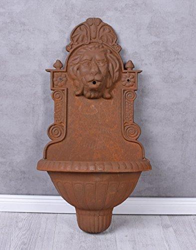 Wandbrunnen Antik Brunnen Löwe Waschbecken Gartenbrunnen Gusseisen 74cm Palazzo Exklusiv
