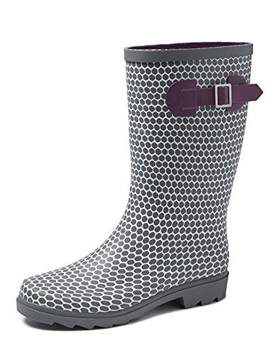 Gevavi Boots abby06370 Abby Bottes en caoutchouc pour femme, 37, gris
