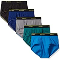 Hanes Men's 5-Pack Cool Comfort Lightweight Breathable Mesh Brief