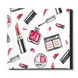 LIANGWE Arte Decorativo de Pared 20x24 Pulgadas (50x60 cm) Productos de Maquillaje cosméticos Set Pinturas murales Lienzo Pintura Decorativa Adecuada para la decoración del hogar