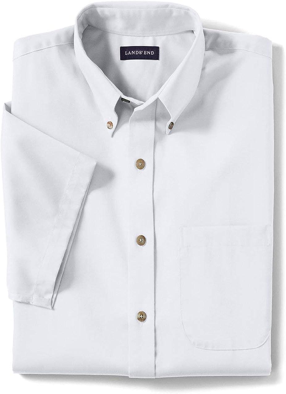 Lands' End School Uniform Men's Short Sleeve Performance Twill Shirt