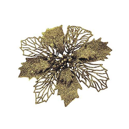 Demarkt - Estrella de Navidad con Purpurina, árbol de Navidad, decoración de Flores Artificiales, Bodas, Navidad, árbol de Navidad, 12 Unidades