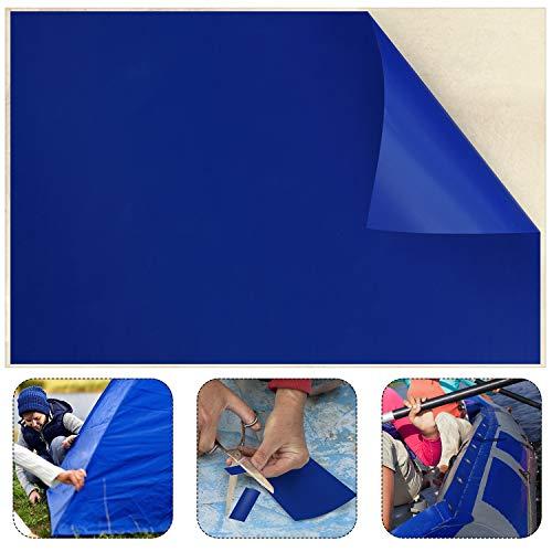 49 x 34 Zoll Vinyl Schwimmbad Liner Patch Flicken Reparatur Patch für Vinyl Schwimmbäder Reparatur, Blau ()