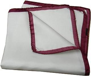 BRUCLE fazzoletto da taschino pochette uomo in lino con bordo colorato made in Italy.