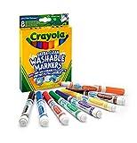 Crayola I Lavabilissimi Pennarelli Ultra-Lavabili, Punta Maxi, per Scuola e Tempo Libero, Colori Assortiti, 8 Pezzi, 58-8328