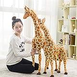 XuBa 1 pièce 60 cm/80 cm/100 cm Grande Simulation Girafe Peluche Animaux Poupée Jouets Cadeaux d'anniversaire Cadeaux de Saint Valentin Jouets pour Enfants