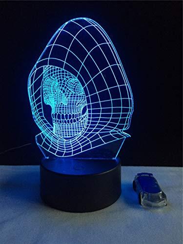 Sanzangtang Led-nachtlampje, 3D-vision-septkleuren, afstandsbediening, sweatshirt met capuchon, anime koplamp, verlichting, sfeerlicht of tafellamp, vervanglicht
