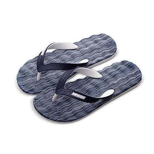 Toallas Verano chanclas para hombre diario casual retro tendencia desgaste zapatillas -40_7027 azul