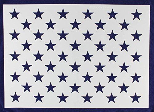 50 Star Field Stencil 14 Mil -G-Spec 24 Inch - Painting/Crafts/Templates