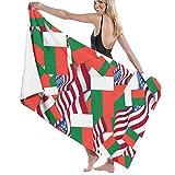 N/A Toallas de baño Bandera de Madagascar con Bandera de Estados Unidos Toalla de Playa Multiusos Ultra Suave