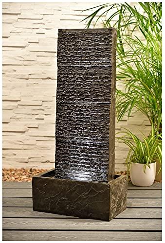 Fuente de agua texturizada al aire libre de la característica de la pared del jardín