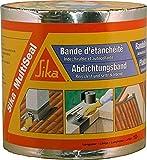 Sika Multiseal SG, Aluminio, Banda autoadhesiva bituminosa soporte múltiple, para reparación de cubiertas y fisuras en edificios, 15cm x 12ml