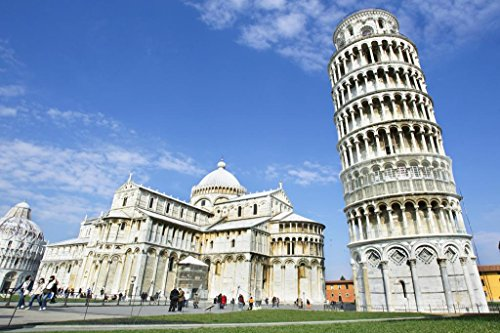 Pisa Cathedral with The Leaning Tower of Pisa Photo Photograph Cool Wall Decor Art Print Poster 36x24