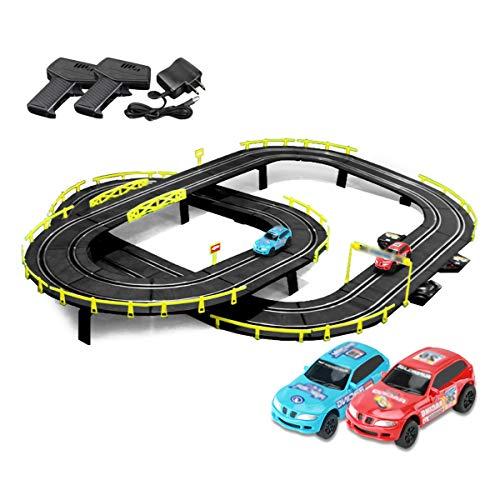 Pistas De Carreras Rail Car Firic Slot Racing Set 4.1m Track Racing Vehicle Playsets Splicing Track Race Track Sets Juguetes para Boy and Girl Cumpleaños Regalos (Color : Electric, Size : 4 Cars)
