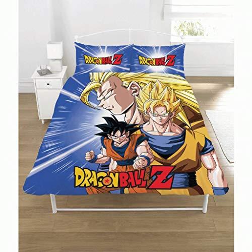 Dragon Ball Z Juego de edredón de polialgodón, Multicolor, Doble