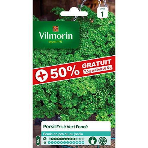 Vilmorin Sachet graines Persil frisé Vert foncé +50% Gratuit